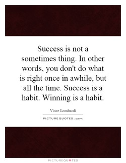 Success IS not a 