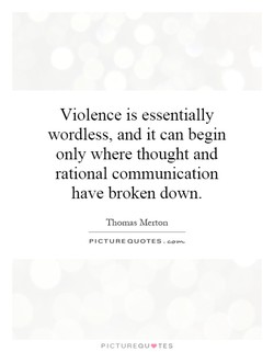 Violence is essentially 