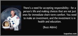 Theres a need fol accepting resx»nsibility - for a 
