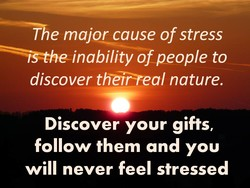 T e major cause of stress 