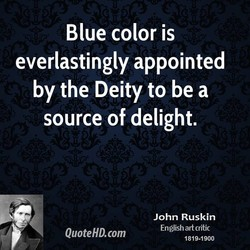 Blue color is 