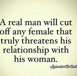 A real man will cut 