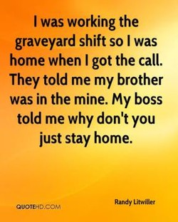 I was working the 